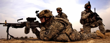 OIF Soldiers in combat